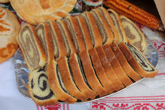 Poppy seed and walnut rolls Stock Photography