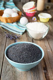 Poppy seeds and chocolate for baking Stock Photos