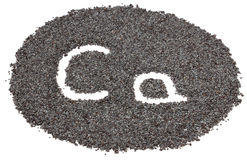 Poppy seeds with letters Stock Photography