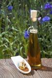 Poppy seeds and oil Stock Photos