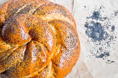 Poppy seeds roll Stock Images