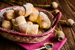 Poppy seeds rolls Stock Image