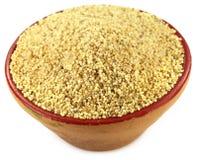 Poppy seeds on a small clay pot Royalty Free Stock Photos