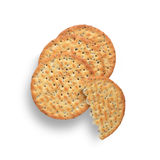Poppy and Sesame Seed Crackers Royalty Free Stock Photography