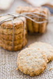 Poppy and sesame seed oat cookies Royalty Free Stock Image