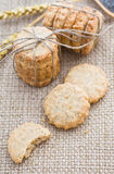 Poppy and sesame seed oat cookies Stock Image