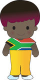 Poppy South Africa Boy. A smiling, well dressed young lad wears clothing representative of South Africa royalty free illustration