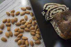 Poppy strudel with almonds Royalty Free Stock Photos