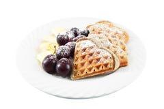 Poppy Waffles Royalty Free Stock Image