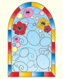 Poppy window Royalty Free Stock Photo