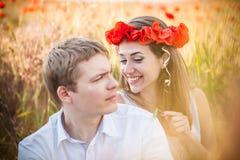 Poppy Wreath royalty-vrije stock afbeelding