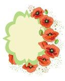 Poppy wreath Stock Image