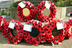 Poppy wreaths of the Remembrance Day Royalty Free Stock Image