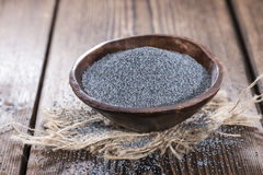 Poppyseed in a bowl Royalty Free Stock Image
