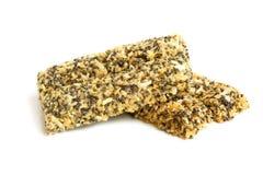 Poppyseeds e coco cristalizados da microplaqueta Fotos de Stock