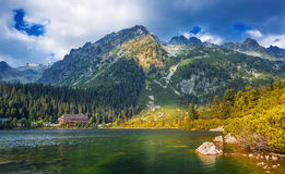 Poprad湖,非常普遍的目的地在高Tatras国家公园,斯洛伐克 库存图片