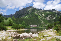 Poprad Lake in the High Tatras Stock Photo