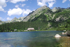 Poprad Lake in the High Tatras Stock Images