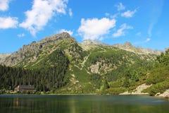 Poprad See in hohen Tatras-Bergen, Slowakei Stockfoto