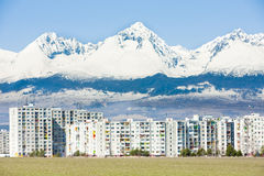 Poprad, Slowakei stockfotos