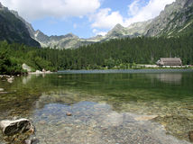 Poprad Tarn, hohes Tatras Stockfoto
