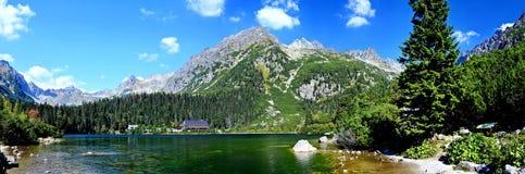 Popradske Pleso jezioro Obrazy Stock