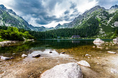 Popradske pleso. Photo was taken in High Tatras mountain national park, Slovakia stock photography