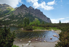 Popradske Pleso (Slovakia) summer view. Royalty Free Stock Photography