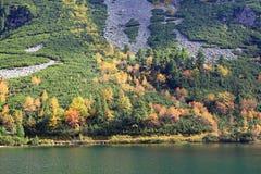 Popradske pleso - tarn in High Tatras, Slovakia stock image