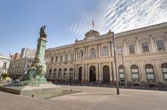 Poprzedni kongres przy placu Montt-Varas kwadratem - Santiago, Chile zdjęcia stock