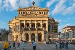 Poprzedni opera budynek, Alte Oper, Frankfurt magistrala - jest - zdjęcia stock