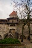 Poprzedni więzienia wierza Neitsitorn w starym Tallinn, Estonia Dziewczyny wierza zdjęcie royalty free