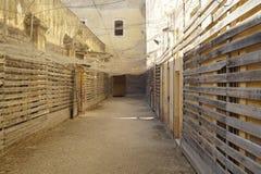 poprzedni więzienie wojskowe Zdjęcie Stock