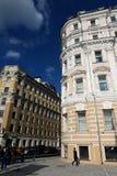 Poprzedni zyskowny dom Lihutin w Prechistenka ulicie, 39 w Moskwa Fotografia Stock