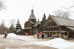 Poprzednia Rosyjska wioska Obrazy Royalty Free