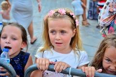 Poprzednich czynników konkursantów 4th wpływ wykonujący przy rocznymi Gibraltar lata nocami Zdjęcie Royalty Free