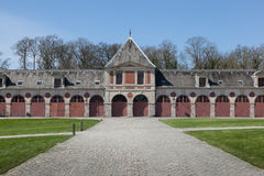 Poprzednie stajenki przy Le pałac Górskiej chaty De le barokowy Francuski pałac - (1661) Zdjęcie Royalty Free