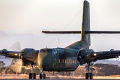 Poprzedniego Królewskiego australijczyka siły powietrzne RAAF de Havilland Kanada DHC-4A Caribou taktycznego transportu bliźniacz fotografia royalty free