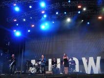Popsångare Milow - Locarno musikfestival Fotografering för Bildbyråer