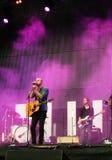 Popsångare Milow - Locarno musikfestival Arkivfoton