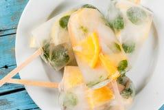 Popsicle от коктеиля mojito Стоковое Фото
