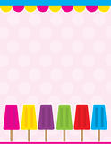 Popsicle Background Stock Photos