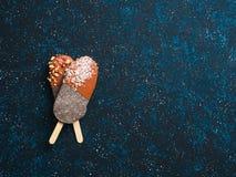 Popsicle Chia с шоколадом стоковые фото