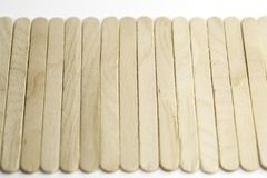 Popsicle Craft Sticks. Shot close up with a macro lens royalty free stock photography