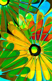 Popsicle daisy. Hand painted daisy design with colorful rainbow shades Royalty Free Stock Photography