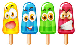 Popsicle with facial expression Royalty Free Stock Images