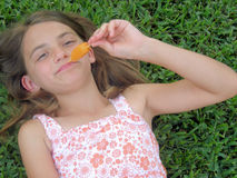 Popsicle Girl Royalty Free Stock Image