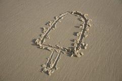 Popsicle gravé sur le sable Images libres de droits