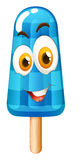 Popsicle with happy face Royalty Free Stock Photos