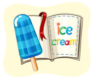 Popsicle icecream and a book Stock Image